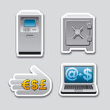 Banking stickers. Illustration of the set of banking stickers Royalty Free Stock Image