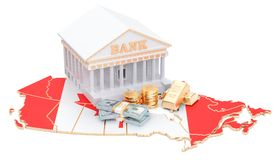 Banking system in Canada concept. 3D rendering. Isolated on white background Royalty Free Stock Images