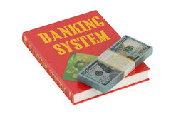 Banking system concept. On the book Stock Photo
