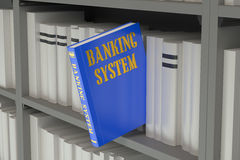 Banking system concept  on the bookshelf Royalty Free Stock Image