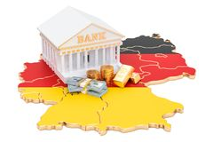 Banking system in Germany concept. 3D rendering Stock Images