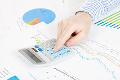 Banking, taxing and all things related with world of finance Stock Image