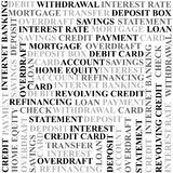 Banking terms background Royalty Free Stock Photo