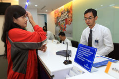 Banking transaction Stock Photography