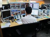 Banking transactions operator royalty free stock image