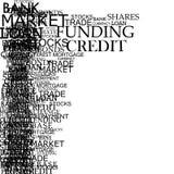 Banking Typography Royalty Free Stock Image