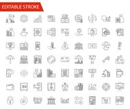 Banking vector icons set. Banking Vector Icon Set. Thin Line Vector Illustration. Adjust stroke weight - Expand to any Size - Easy Change Colour - Editable Stock Photos
