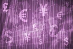Banking and Wealth Abstract Background. In Purple Colors stock illustration