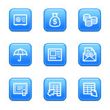 Banking web icons Stock Photography