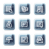 Banking web icons Stock Images