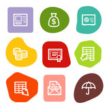 Banking web icons, colour spots series. Vector web icons, colour spots series. Easy to edit, scale and colorize Royalty Free Stock Photography