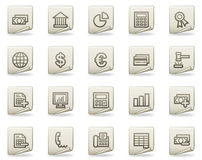 Banking web icons, document series Royalty Free Stock Photo