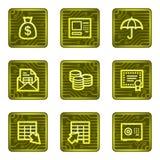 Banking web icons, electronics card series. Vector web icons, electronic buttons series Royalty Free Stock Photo