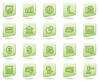 Banking web icons, green document series Stock Photography