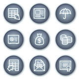 Banking web icons, mineral circle buttons series. Vector web icons set. Easy to edit, scale and colorize Royalty Free Stock Photos