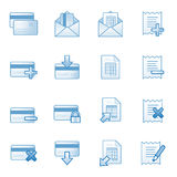 Banking web icons set 2, blue series Royalty Free Stock Photos