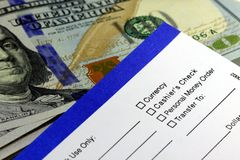 Banking withdrawal - deposit slip Stock Photos