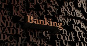 Banking - Wooden 3D rendered letters/message Stock Photo
