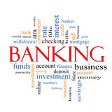Banking Word Cloud Concept Royalty Free Stock Image