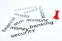 Banking word Stock Photos