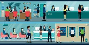 bankirer stock illustrationer