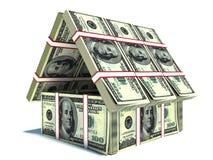 bankirer Hus från packe av dollaren vektor illustrationer