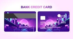Bankkartenachtstadt lizenzfreie abbildung