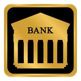 Bankknopf auf Weiß Stockfotografie