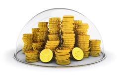 Bankkonto, Geldeinlagenschutz und Finanzversicherungskonzept vektor abbildung