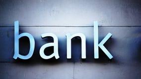 Bankkontorstecken Arkivfoto