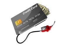 Bankkreditkarte-, -geld- und -gasdüse vektor abbildung