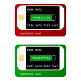 Bankkreditkarten in einer modernen Art Vektor Abbildung