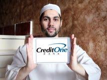 Banklogo för kreditering en Arkivfoto