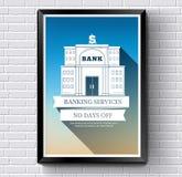 Banklogo oder Aufkleberschablone mit verwischt Stockbild