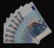 banknotów 20 euro obrazy royalty free