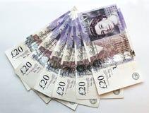 banknotów 20 funtów dwadzieścia Fotografia Stock