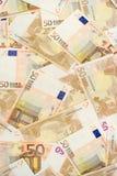 banknotów 50 euro Fotografia Royalty Free