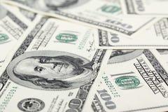 banknotów amerykańscy dolary Fotografia Stock