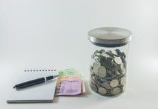 banknotów czarny kalkulatora pojęcia pieniądze oszczędzanie Obraz Stock