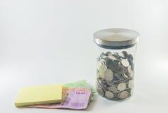 banknotów czarny kalkulatora pojęcia pieniądze oszczędzanie Obrazy Stock