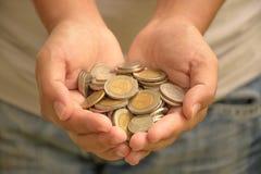 banknotów czarny kalkulatora pojęcia pieniądze oszczędzanie Fotografia Stock