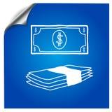 Banknotów dolarów pociągany ręcznie markier Zdjęcia Stock