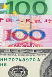 banknotów dolara euro Fotografia Royalty Free
