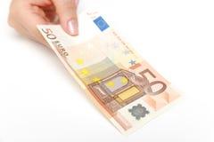 50 banknotów euro Zdjęcia Stock