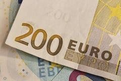 200 banknotów euro Fotografia Royalty Free
