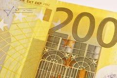 200 banknotów euro Obraz Royalty Free