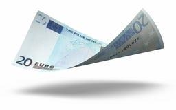 20 banknotów euro Obrazy Royalty Free