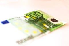 100 banknotów euro Zdjęcia Stock