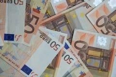 50 banknotów euro Obraz Stock