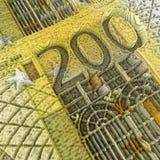 200 banknotów euro Obraz Stock